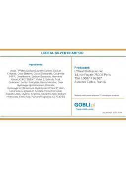 składniki szamponu Loreal Silver neutralizuje żółty odcień włosów