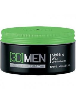 Schwarzkopf 3D MEN Molding Wax, wosk do układania włosów, naturalny połysk 100ml
