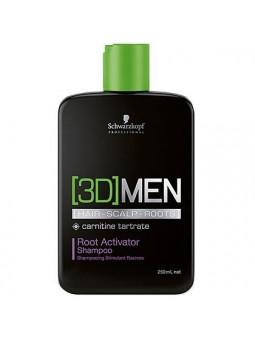 Schwarzkopf 3D Men GROWTH szampon aktywizujący 250ml
