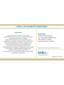 skład odżywki Loreal Liss Unlimited, kontrola puszących się włosów
