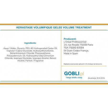 skład Kerastase Volumifique Gelee Volume mleczko wzmacniające włosy