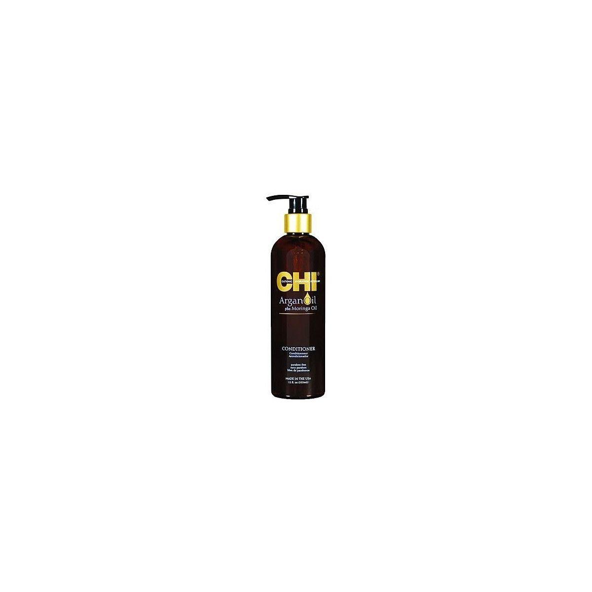 CHI Argan Oil Moringa, Odżywka regeneruje zniszczone i suche włosy 355ml