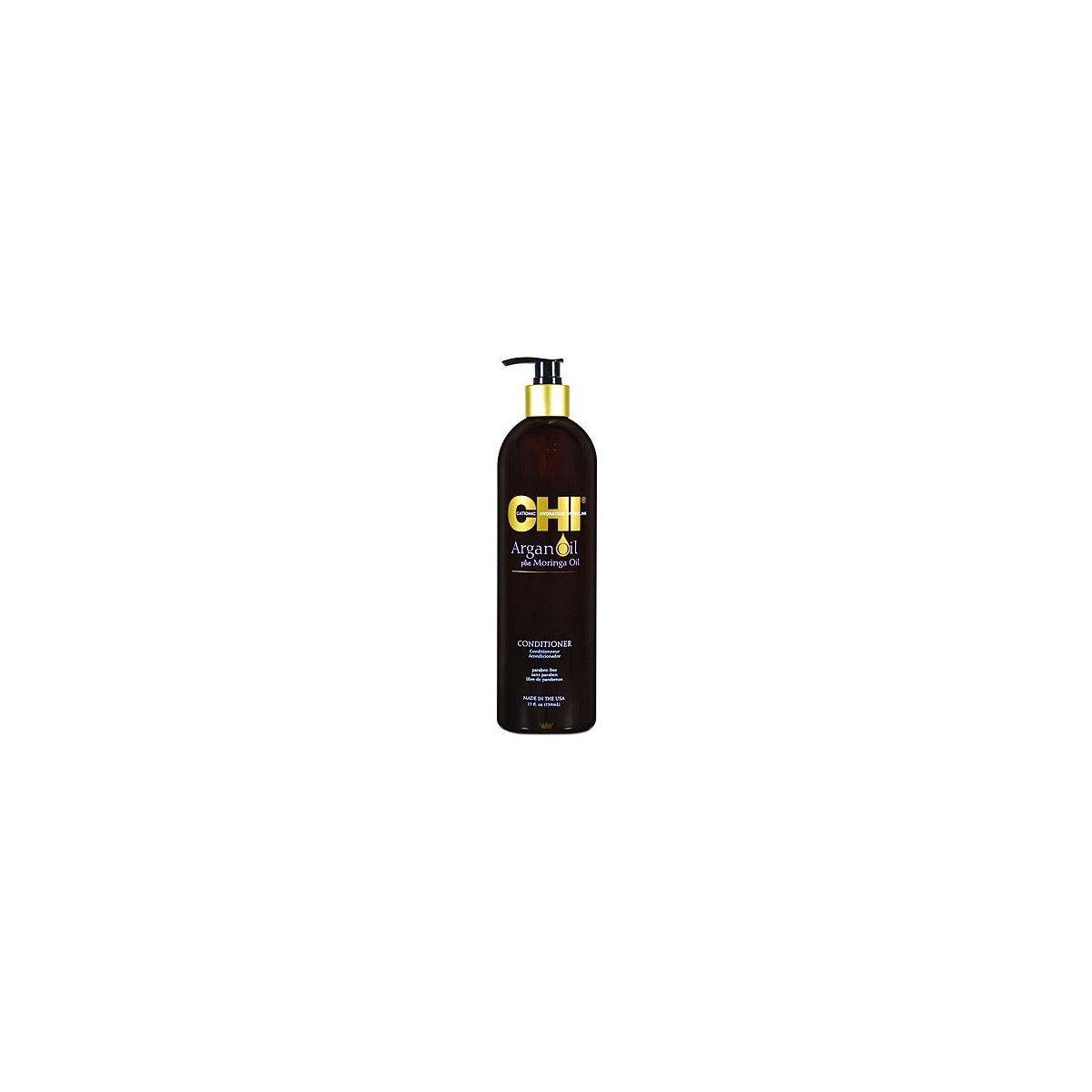 CHI Argan Oil Moringa, Odżywka wzmacniająca z olejkiem arganowym 739ml
