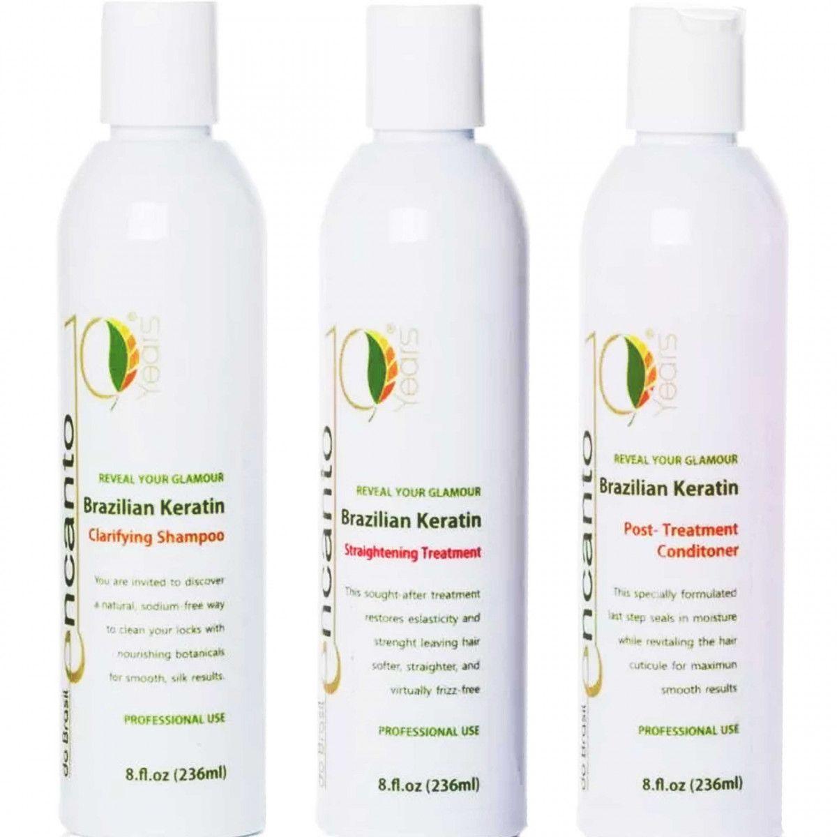 Encanto keratyna, zestaw do keratynowego prostowania włosów w domu 3x236ml