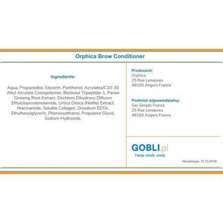 Skład odżywki Orphica Eye Brow Conditioner 4ml