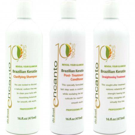 ENCANTO DO BRASIL zestaw 3x473ml keratynowego prostowania włosów
