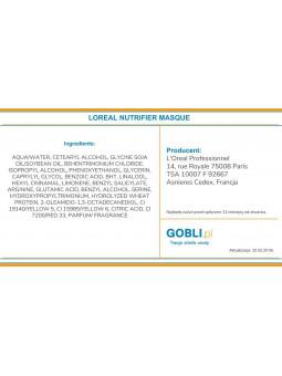 składniki maski Loreal Nutrifier intensywna kuracja nawilżająco odżywiająca
