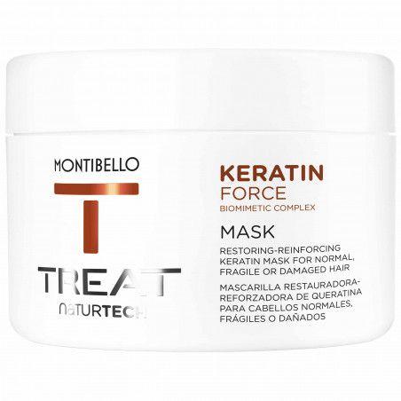 Montibello Keratin Force, termoochronna maska do zniszczonych, wzmacnia 200ml
