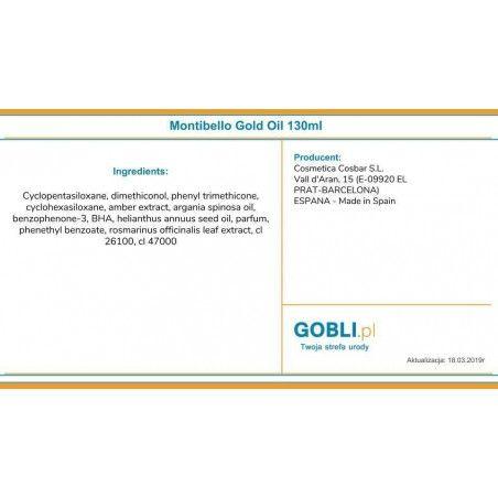 Olejek Montibello Gold Oil Essence - skład produktu.