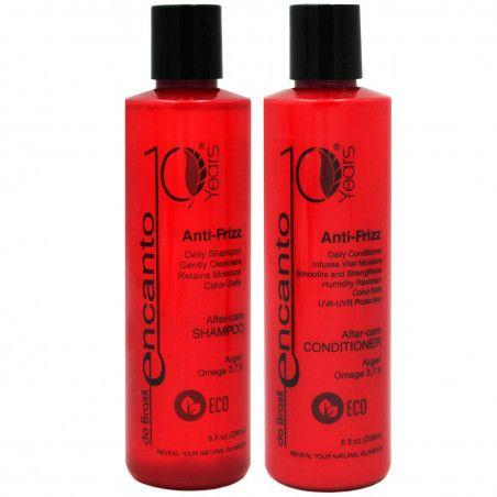 ENCANTO DO BRASIL Anti-Frizz zestaw po keratynowym prostowaniu włosów 2x236ml