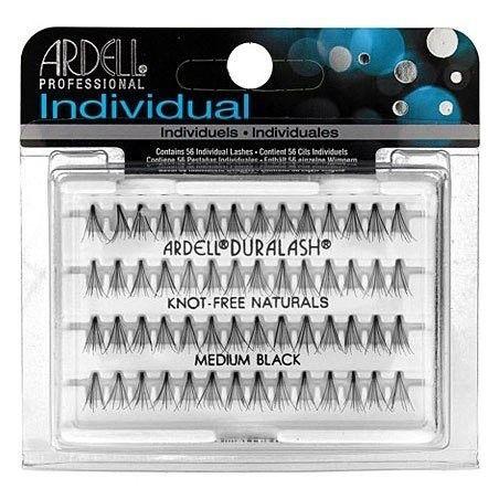 Ardell Naturals KĘPKI Medium Black KnotFree, lekko podkręcone