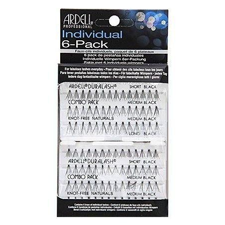 Ardell Naturals COMBO Black 6-PACK duży zestaw sztucznych rzęs