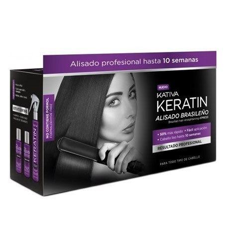 KATIVA Alisado Brasileno Xpress, Zestaw do keratynowego prostowania (czarny)