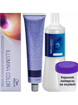 WELLA ILLUMINA, zestaw do farbowania włosów 60ml + oxydant 60ml