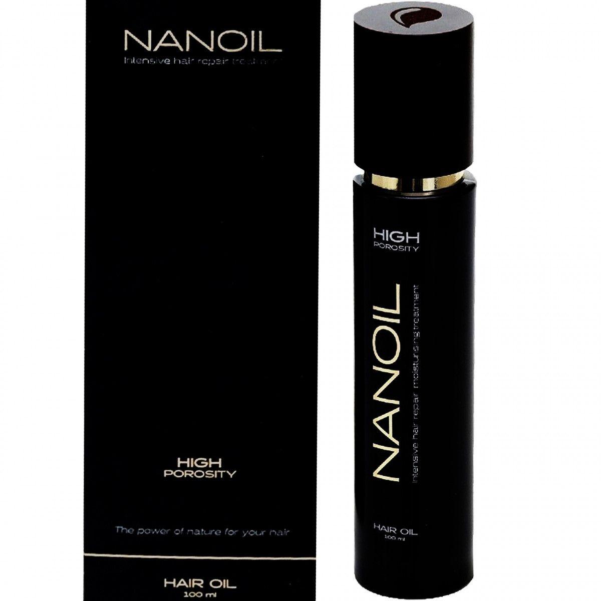 Nanoil High Porosity, olejek do włosów wysokoporowatych, zniszczonych i przesuszonych 100ml