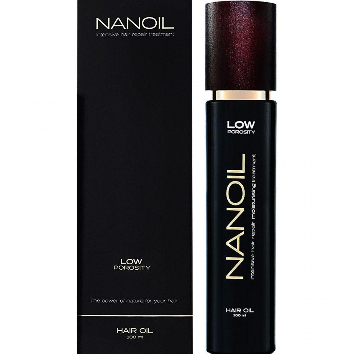Nanoil Low Porosity, olejek do włosów niskoporowatych, ciężkich i trudnych do stylizacji 100ml