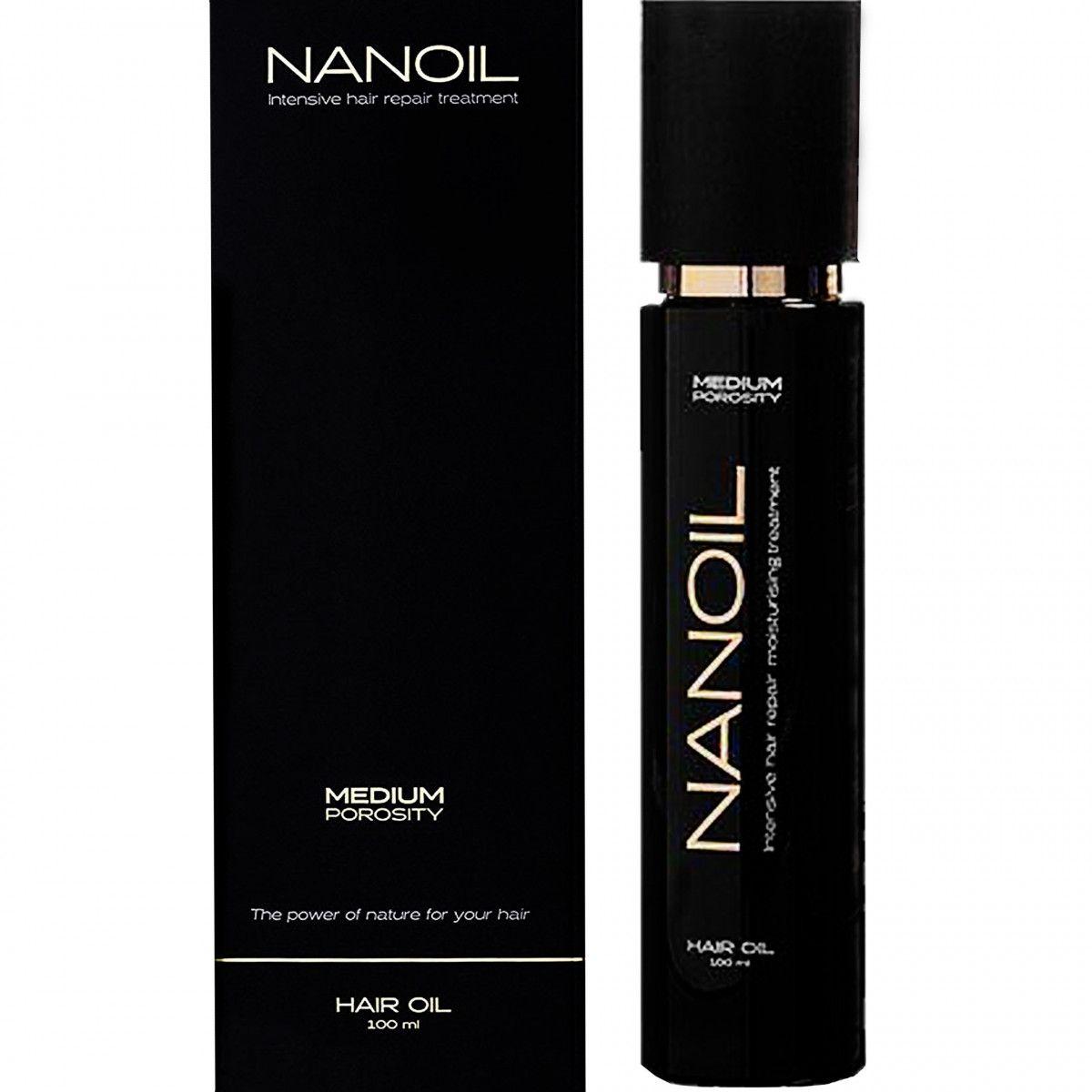 Nanoil Medium Porosity, olejek do włosów średnioporowatych, osłabionych i matowych 100ml