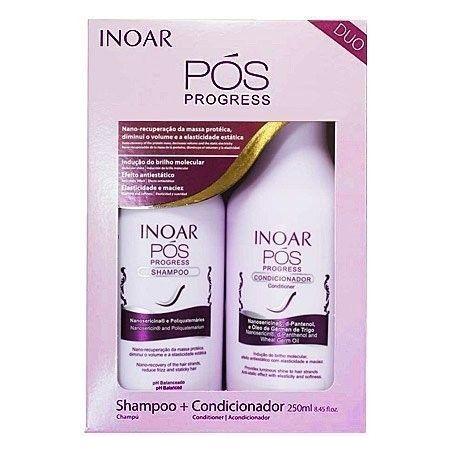 INOAR POS Progress szampon + odżywka po keratynowym prostowaniu 2x250ml