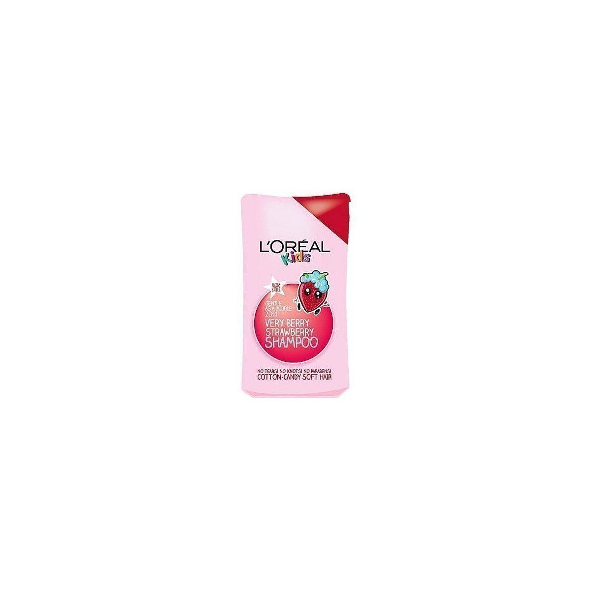 Loreal Kids Very Berry Strawberry, truskawkowy szampon myjący dla dzieci, delikatna formuła 250ml