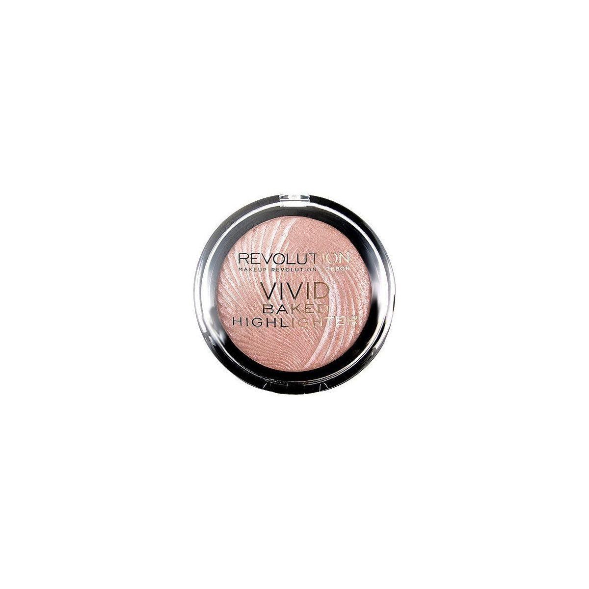 Makeup Revolution VIVID Baked Highlighter Peach Lights, brzoskwiniowy rozświetlasz 7,5g