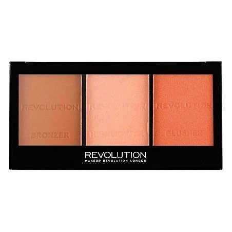 Makeup Revolution Ultra Sculpt & Contour Kit Ultra Fair C01, do konturowania twarzy 11g
