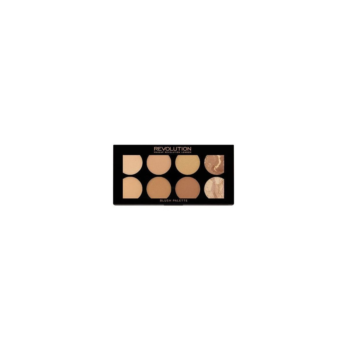 Makeup Revolution Blush Palette Bronze Palette All About Bronze 13g, napigmentowane bronzery