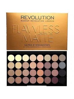 Makeup Revolution 32 Ultra Eyeshadows Flawless Matte, matowe cienie mocno nasycone