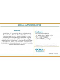 skład szamponu Loreal Nutrifier lekka formuła bez obciążania bez SLS