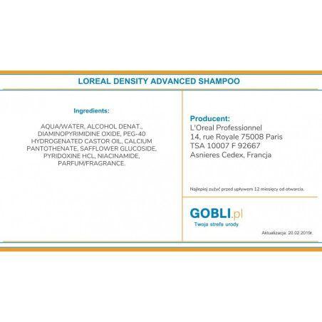 skład szamponu Loreal Density Advanced, zwiększona gęstość