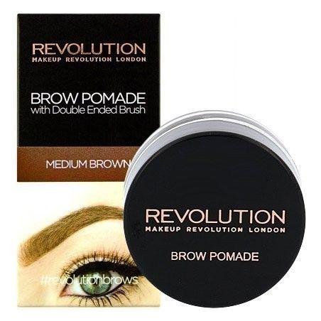 Makeup Revolution Brow Pomade Medium Brown, pomada do brwi 2,5g