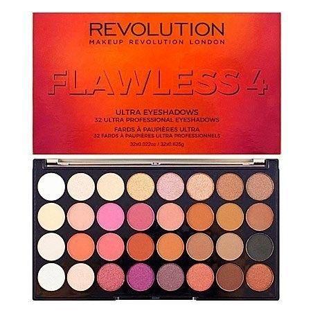 Makeup Revolution 32 Ultra Eyeshadows Flawless 4 rewelacyjna mieszkanka jasnych i ciemnych