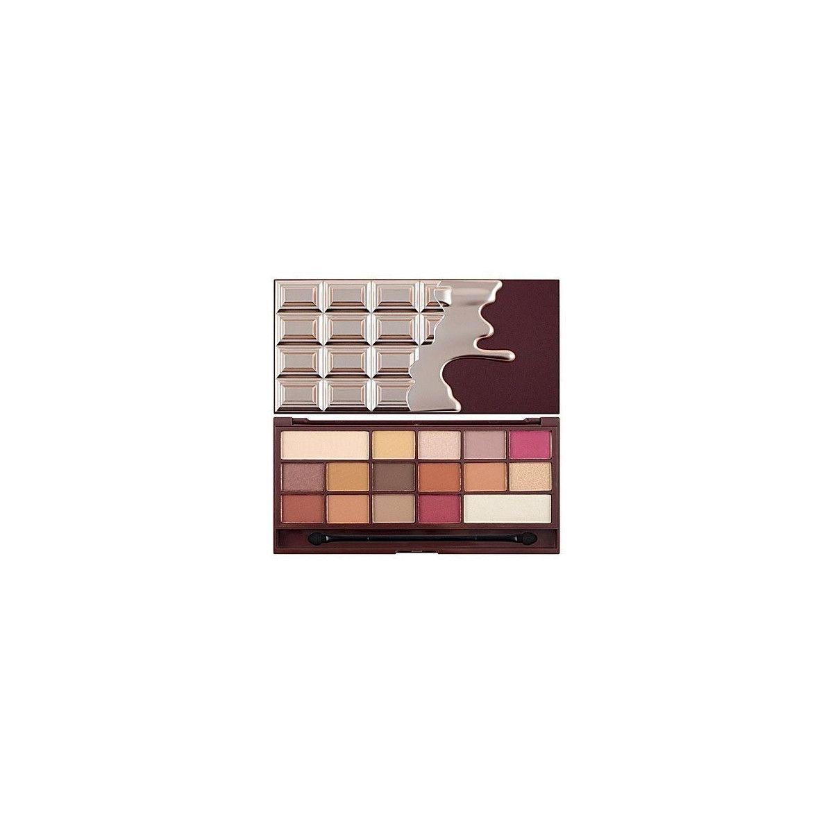 Makeup Revolution 16 Eyeshadows I Love Makeup Chocolate Elixir, satynowe i matowe cienie 22g