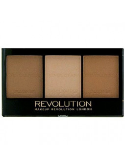 Makeup Revolution Ultra Brightening, paletka do konturowania twarzy C04 Light / Medium
