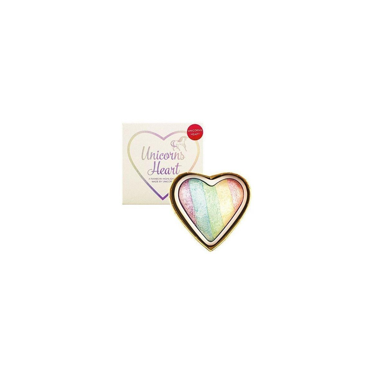 Makeup Revolution I Heart Makeup Unicorns, rozświetlacz do twarzy w kształcie serca 10g