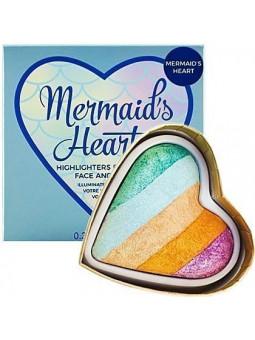 Makeup Revolution I Heart Makeup Mermaid's Heart, wypiekany rozjaśniacz do twarzy 10g