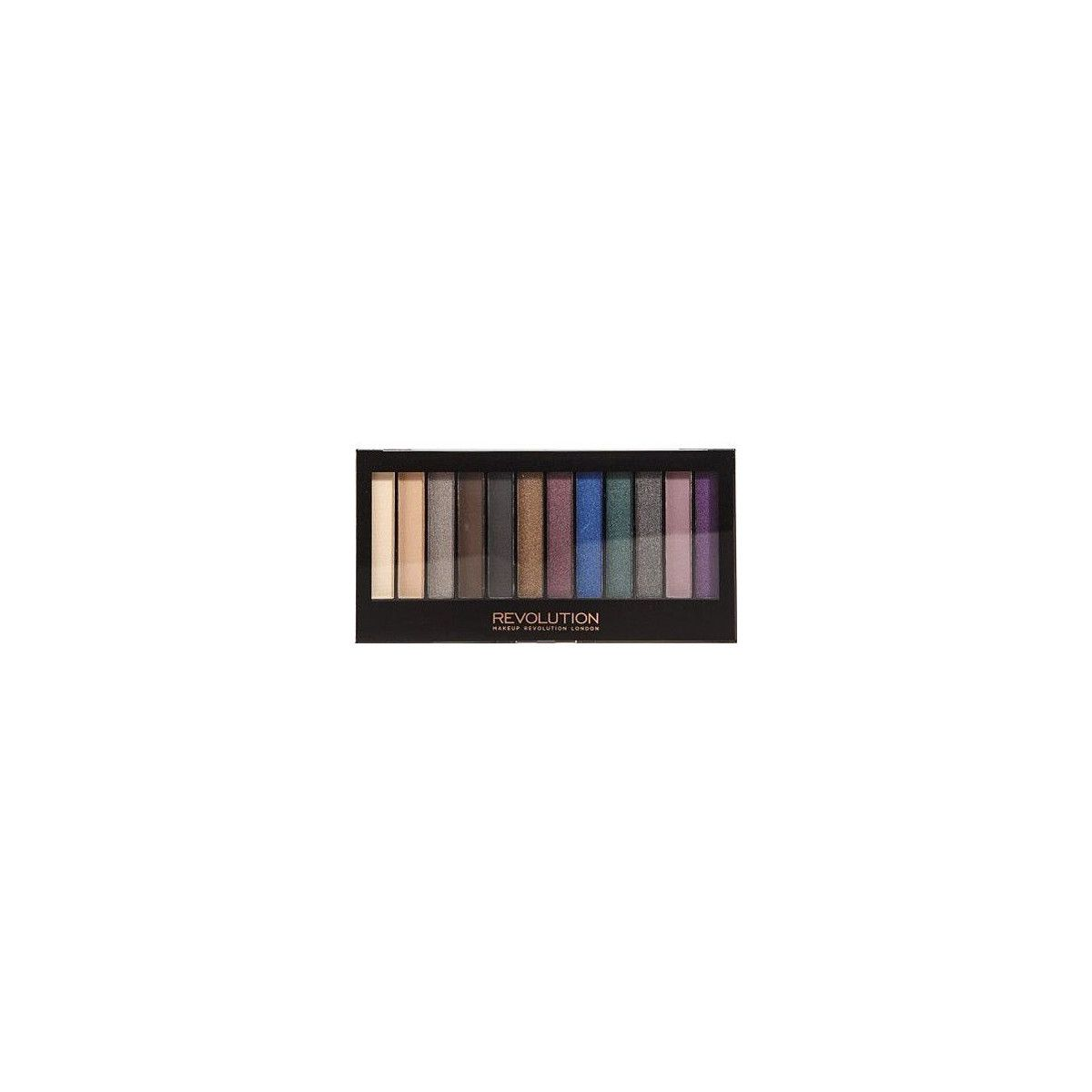 Makeup Revolution Redemption Palette Hot Smoked, 12 cieni do powiek intensywne kolory 14g