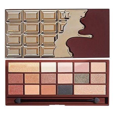 Makeup Revolution Chocolate 24kGold, Paletka cieni do powiek