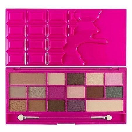 Makeup Revolution 16 Eyeshadows I Love Makeup Chocolate Love, czekoladowa paleta cieni do powiek 22g