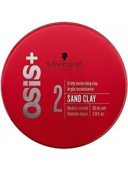 Schwarzkopf OSIS Sand Clay, ziarnisty matowy średnio mocny klej do nadawania tekstury 85g