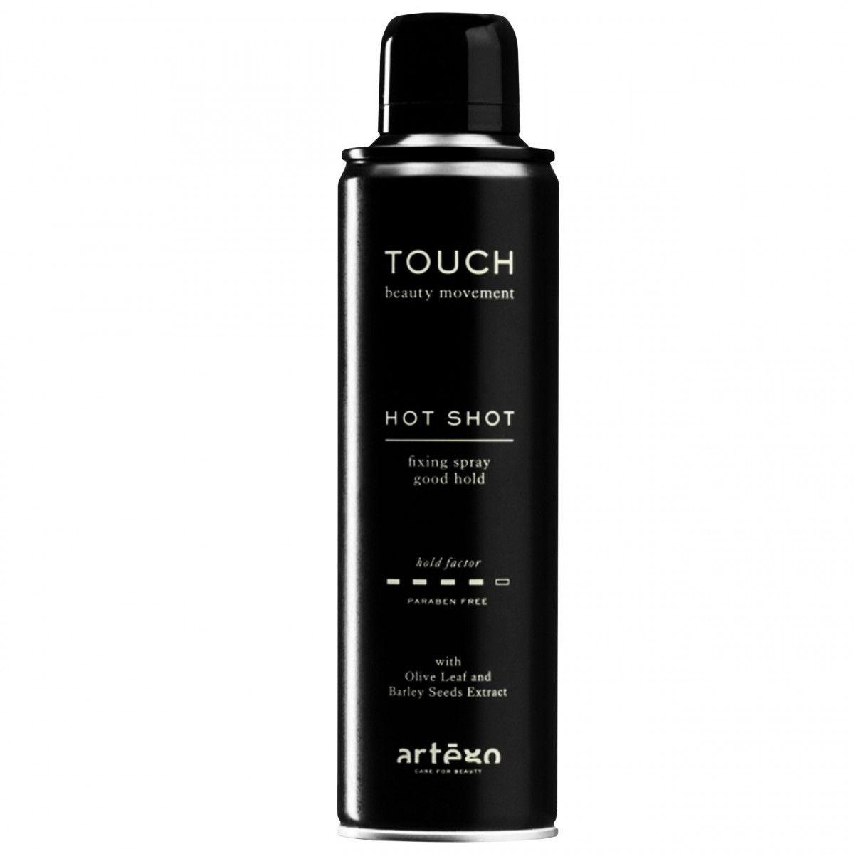 Artego Touch Hot Shot, lakier mocno utrwalający bez obciążania włosów 500ml