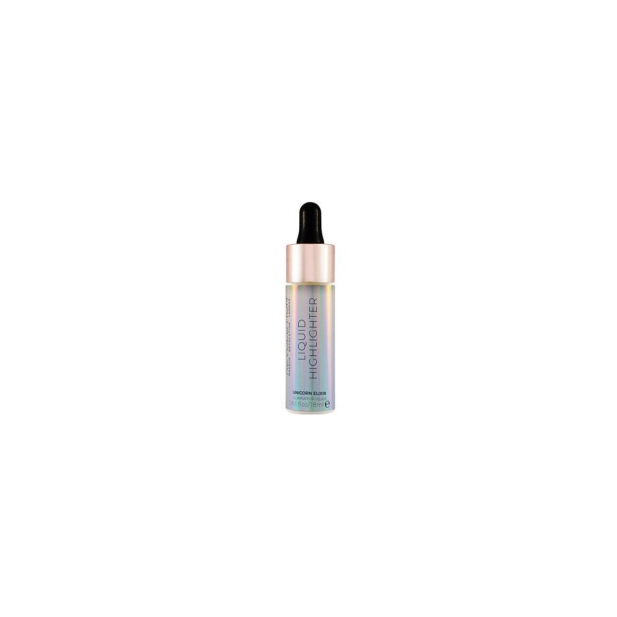 Makeup Revolution Liquid Highlighter Unicorn Elixir, rozświetlacz w płynie 18ml