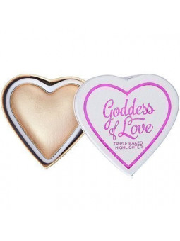 Makeup Revolution serce Golden Goddess Highlighter, wypiekany rozjaśniacz 10g