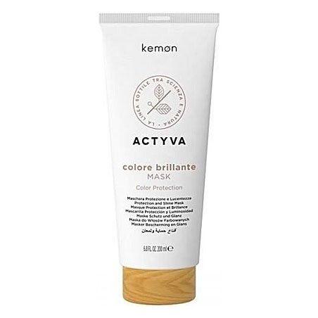 Kemon ACTYVA Colore Brillante, maska do włosów farbowanych 200ml