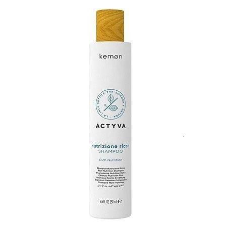Kemon ACTYVA Nutrizione Ricca, szampon do ekstremalnie suchych włosów 250ml