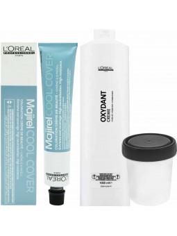 Loreal Majirel COOL COVER farba zimne odcienie chłodnych blondów 50ML + oxydant 75ml