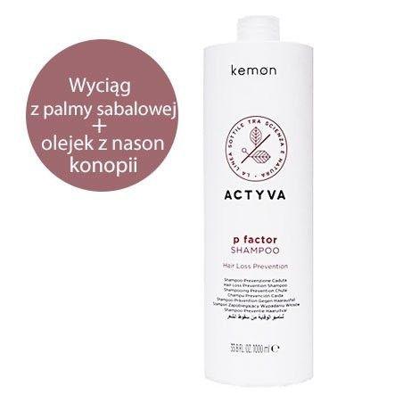 Kemon ACTYVA P Factor szampon do włosów ze skłonnością do wypadania.