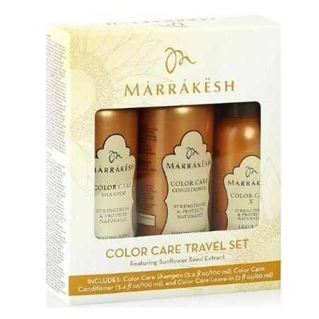 Marrakesh Color Care Travel Set zestaw szampon 100ml odżywka 100ml olejek 60ml