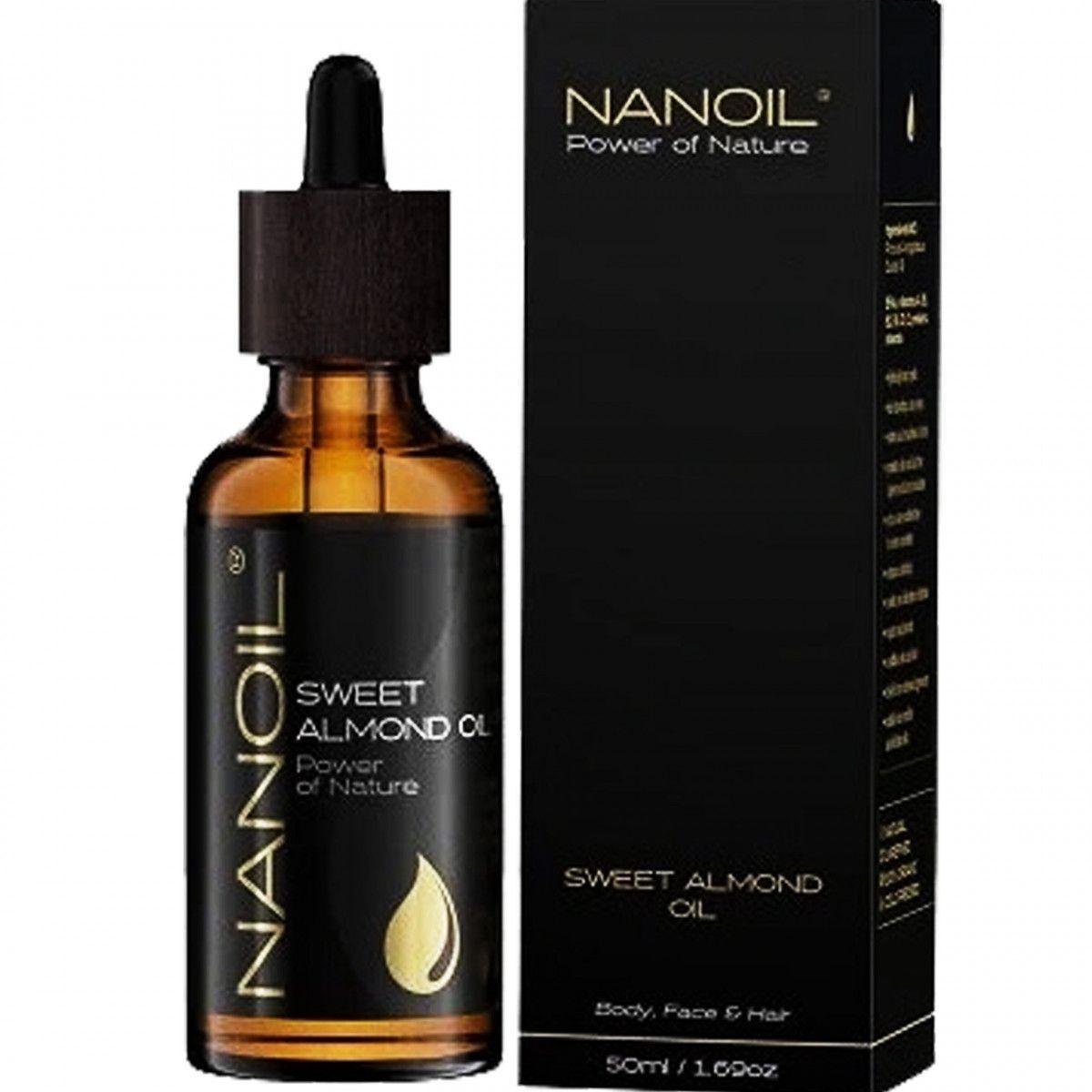 Nanoil olejek migdałowy do pielęgnacji włosów i ciała 50ml