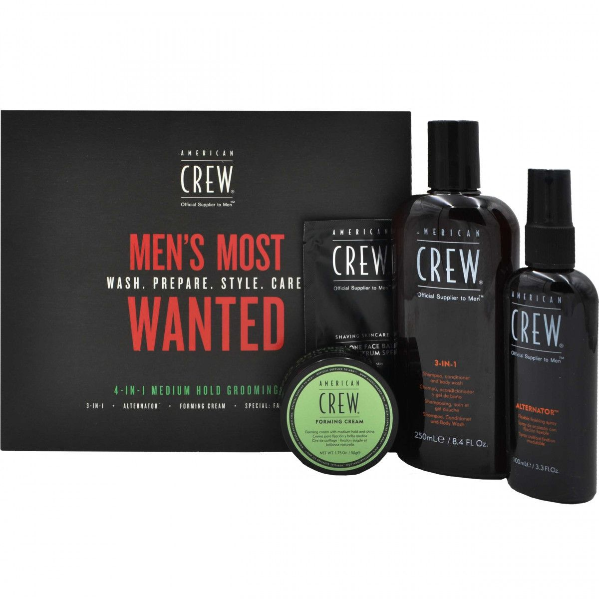 American Crew Men's Most Wanted Medium Hold Zestaw męskich kosmetyków