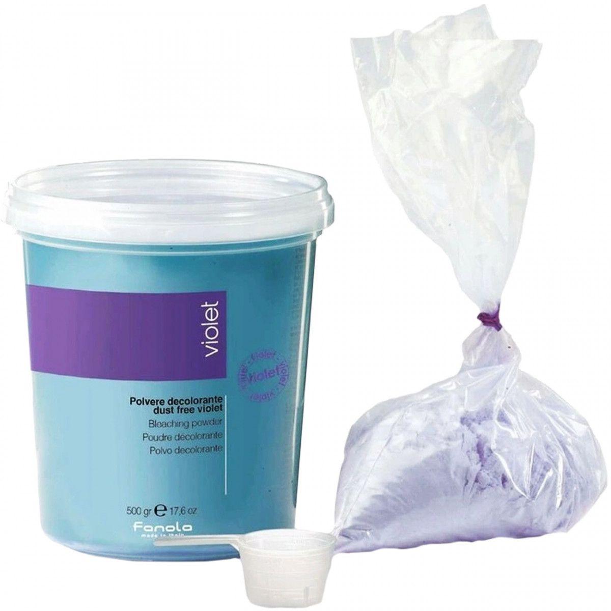 Fanola Violet Dust Free Powder rozjaśniacz do włosów 500g